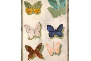 飛ぶ蝶 [油彩・合板/1934(昭和9)]