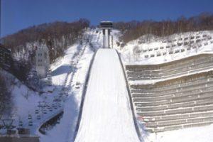 冬のジャンプ台