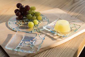 ガラス皿「氷滴」